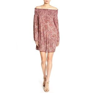 Band Of Gypsies Paisley Off the Shoulder Shift